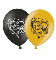 Wedding Party 12 UK Gift Box Goodies Just Married Newest Love Heart Balloons Latex 10 pack