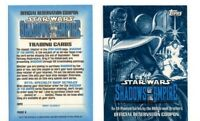 TOPPS 1996 STAR WARS SHADOWS OF THE EMPIRE RARE OFFICIAL RESERVATION COUPON CARD