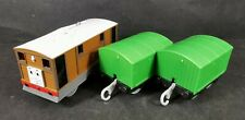 Toby with 2 x Green Trucks Trackmaster Thomas And Friends Motorised Train