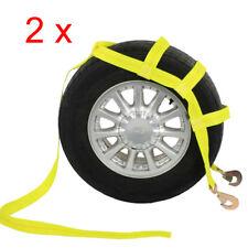 Car Basket Straps Adjustable Tow Dolly DEMCO Wheel Net Set Snap Hook Yx2