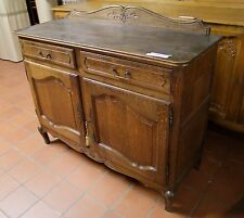 EARLY 20th CENTURY FRENCH DARK OAK 2 DOOR/2 DRAWER SIDEBOARD (030069)