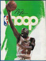 1995 Michael Jordan Hoop Game Program - Chicago Bulls - Seattle Supersonics