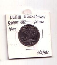 Regno d'Italia  50 cent.1942  Impero Magn.  V.Emanuele III   SPL/FDC   (m1132)