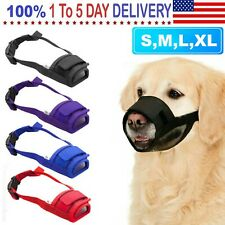 Pet Dog Adjustable Mask No Barking Bite Mesh Mouth Muzzle Anti Stop Chewing S-Xl