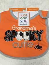 Lot Of 3 Carter's Just One You Halloween Bibs - Nwt