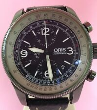 ORIS X1 Calculator Crown Day/ DATE  Automatic Chronograph Black PVD watch