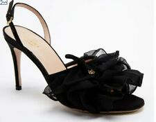 Gucci Woman Soft Toulle Bow Slide Sandals Back Color Size 39, Elegant DM124