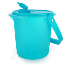 Tupperware Jumbo 5 L Water Jug Canister Tropical Blue W/Cariolier Handle - New!