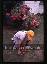 1962 Kodachrome Photo slide Teen Boy Little League Baseball Ball Glove Uniform