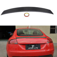 Rear Trunk Spoiler Racing Wing Fit for Audi TT MK2 8J TTS 2008-2014 Carbon Fiber