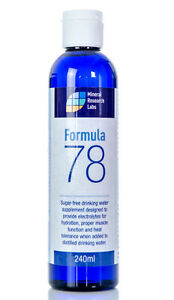 Sugar Free Sports Energy Drink Distilled Isotonic Water Supplement Formula 78 UK