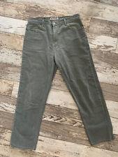 High Sierra Mens Army Green Jeans 34 X 30