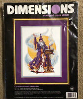 Dimensions~Commanding Wizard #3173 Stamped Cross Stitch Kit NEW In Package 1998