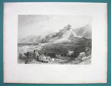 TURKEY Acropolis of Sardis - 1840 Antique Print by Allom