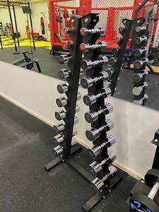 1-10kg Chrome Dumbbell Set With Rack Commercial Grade Dumbbell Total 110kg