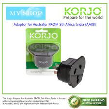 AA08 Korjo India & South Africa Adaptor Adapts to Australian - Fit46