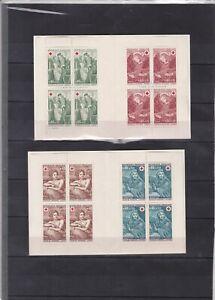 FRANCE 4 CARNETS CROIX ROUGE 1967-19721969 et 1970