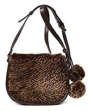 Patricia Nash Laser Cut Sherpa La Cruz Chocolate Handbag