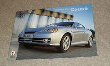 Hyundai Coupe Brochure 2002 - 1.6 S 2.0 SE 2.7 V6