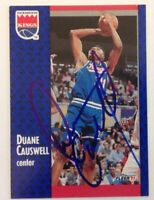 Duane Causwell Hand Signed 1991 Fleer Card Sacramento Kings