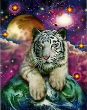 "Glow In The Dark ""White Tiger Cub"" Boxless Puzzle Cosmic Fantasy *NEW*"