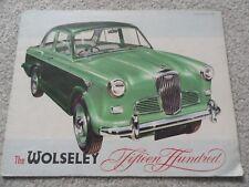 Wolseley Fifteen Hundred Sales Brochure