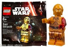 NEW star wars lego C 3PO minifigure RED ARM FORCE AWAKENS rare polybag 5002948