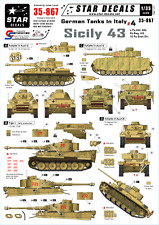 Star Decals - German Tanks in Italy #4 - Sicily 43,scale 1:35, 35-867