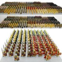 21pcs CUSTOM Knight Minifigures Military Army Soldier Figure for Lego Minifigure