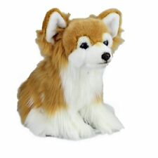 Soft Plush Toy Chihuahua Long Hair Stuffed Animal Realistic Dog 30.5 cm