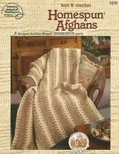 Homespun Afghans Knit & Crochet Patterns American School of Needlework Asn 1270