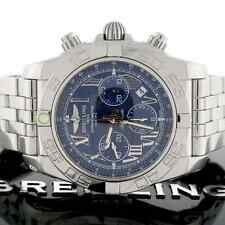Breitling Chronomat B01 44 Blue Roman Dial Chronograph Steel AB0110 Box&Papers