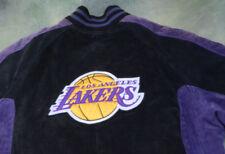 Vintage G-III Carl Banks NBA Los Angeles Lakers Leather Jacket Size L.