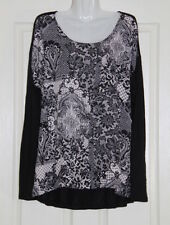 Womens size 18 lace print top made b;y CAPTURE