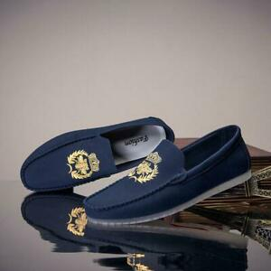 Men Driving Moccasins Lazy Slip On Loafers Shoes Outdoor Leisure Big Size ST004
