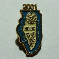 "Gold Toned 2001 Illinois B.P.O.E. Ho Do Handicapped Children 1"" Lapel Pin NR"