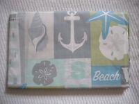 "New Summer Fun Vinyl Tablecloth Beach Ocean Theme 52"" Square 60"" Round & Oblg"