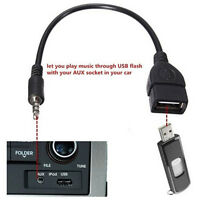 3.5mm Stecker Audio AUX Klinge auf USB 2.0 Typ A Buchse OTG Konverter Adapter DE