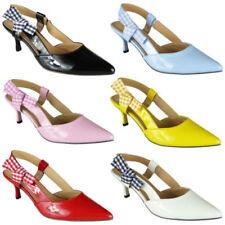 Kitten Heel Slingbacks Med (1 3/4 to 2 3/4 in) Heel Height Heels for Women