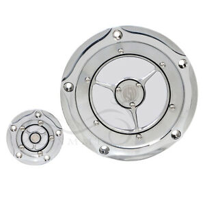 RSD Aluminum Derby Timing Point Cover For Harley Electra Glide Dyna Fat Bob FXDF