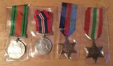 Original & Genuine WWII WW2 Medal Set X 4 Victory & War & 39-45 & Italy Star