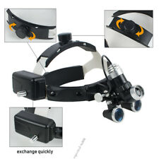 Dental Surgical Medical Headband Ajustable 3.5X Binocular Loupes Headlight LED