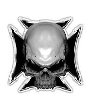 Skull Decal - Maltese Cross Sticker Black Graphic