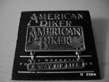"""PIN, """"A WAY OF LIFE"""" BELOW SMALL EAGLE HAT/JACKET PIN, AMERICAN BIKER"""