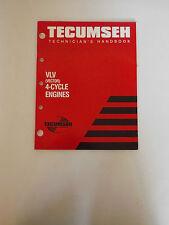 Tecumseh VLV (Vettore) 4 motori a ciclo MANUALE DEL MECCANICO