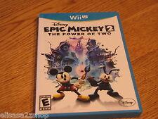 Nintendo Wii U Disney Epic Mickey 2 The power of two video game everyone RARE