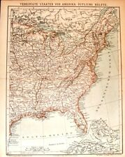 "1894 - EAST AMERICA from ""Konversations"" by Brockhaus"