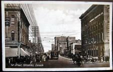 CANADA ~ 1900's EDMONTON ~ 1st Street ~ DOWNTOWN~Horse Carriage~Trolley~RPPC