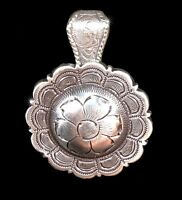 "Western Cowgirl Jewelry 1 1/2"" Antique Silver Flower Concho Pendant Kit"