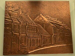 Antique Copper Art by E Duval
